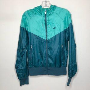 Nike Windrunner Jacket Green Women's Size Medium